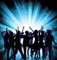 Several people are dancing silhouette vector image