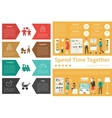 Spend Time Together infographic flat vector image