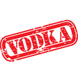 Vodka Stamp vector image