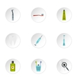 Dental clinic icons set flat style vector image vector image