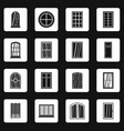 plastic window forms icons set squares vector image