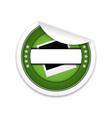 guarantee badge with polaroid vector image vector image