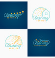 set cleaning logo vector image