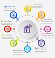 infographic template with online banking icons vector image