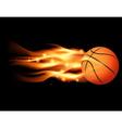 Flaming Basketball vector image