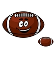 Brown leather football with a happy smile vector image vector image