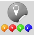 Map pointer icon GPS location symbol Set colourful vector image