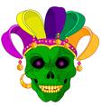 Mardi Gras skull vector image vector image