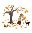 halloween walk vector image vector image