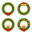 collection of holly wreath vector image vector image