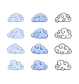 White clouds on blue sky vector image vector image