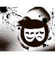 vintage theater masks emblem vector image vector image