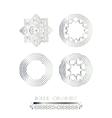 Silver mandala art vector image