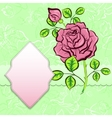 background with frame and rose vector image