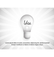 Background with idea in the bulb vector image