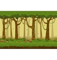 Cartoon forest landscape endless nature vector image