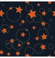Circle and star chaotic seamless pattern vector image