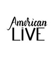 fashionable inscription brush american live vector image