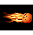 Flaming Basketball vector image
