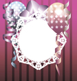 Stylish template for invitation birthday card vector image