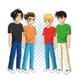 Boy anime male manga cartoon icon graphic vector image