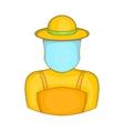 Beekeeper icon cartoon style vector image