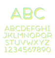 font grotesque 3d inline thin vector image vector image