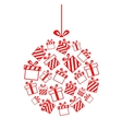 Christmas ball made from gift boxes vector image vector image