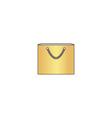 Shopping bag computer symbol vector image
