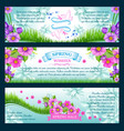 spring season greetings banners vector image