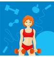 sports redhead girl vector image