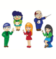character of business cartoon vector image