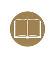 Open book - icon vector image
