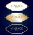 Gold vintage frame badges and labels background vector image