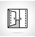 Open double door simple line icon vector image