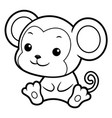 black and white monkey character sits forward vector image