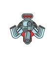 engine hot rod muscle sport car speedster icon vector image