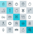 farm icons set collection of fire tube vector image
