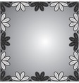 frame of floral ornaments vector image