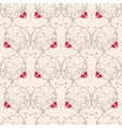 Seamless floral weaving pattern Gentle background vector image