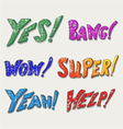 Sound effects vector image