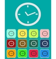 Watch clock icon in flat style vector image