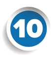 Number ten icon vector image