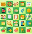 icon set mortgage loan vector image