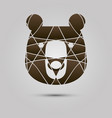 abstract logo with brown bear modern style vector image