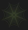 greenery cobweb vector image
