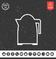 kitchen kettle linear icon vector image