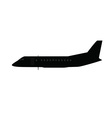 Single small aircraft silhouette vector image vector image