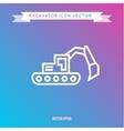 Excavator Icon outline logo vector image