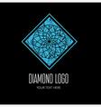 Diamond grunge logo 5 vector image vector image
